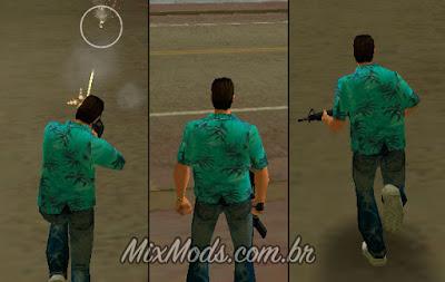 novas animações e controles fluentes para o GTA Vice City