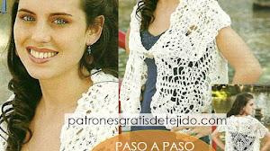Patrones de Chaleco Crochet hecho con 7 hexágonos | Paso a paso