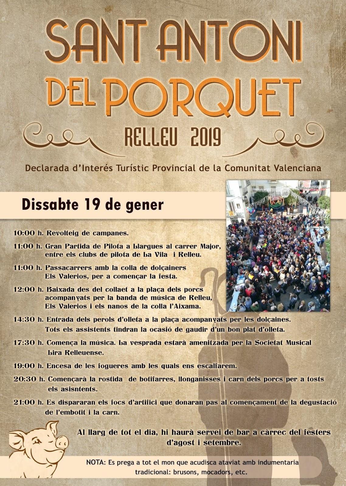 Programa Sant Antoni del Porquet 2019