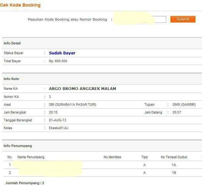 Cek Kode Booking Tiket Keretamu Pastikan Sudah Valid Qtiket