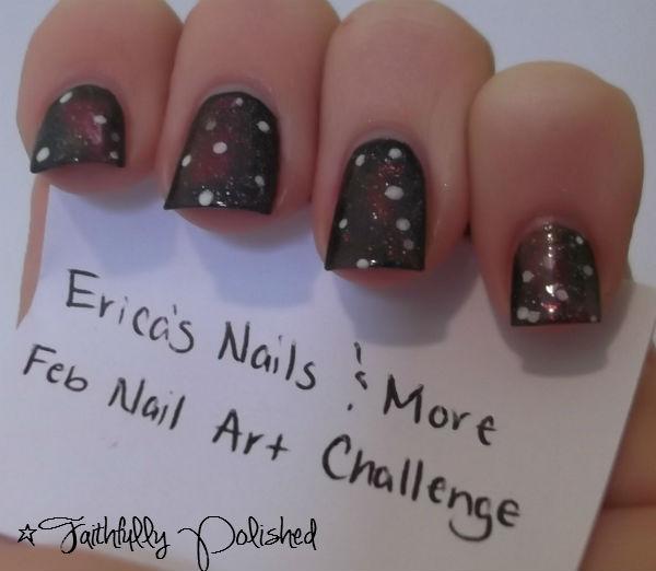 Nail Art February Challenge: Faithfully Polished: February Nail Art Challenge: Galaxy Nails