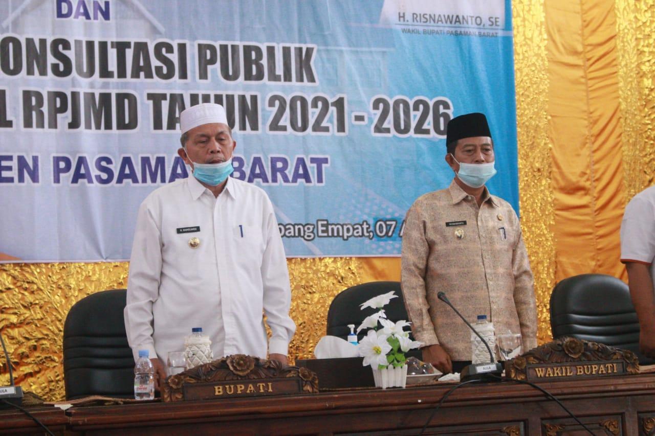 Musrenbang RKPD Tahun 2022 Kabupaten Pasaman Barat Dimulai