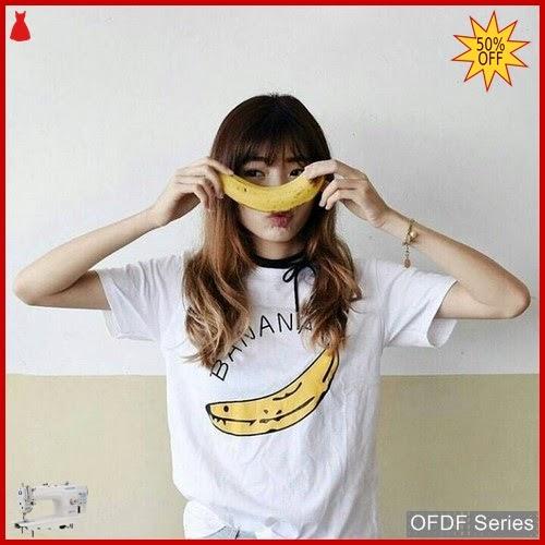 OFDF063 Atasan Kaos Banana Pisang Tee 256 BMGShop