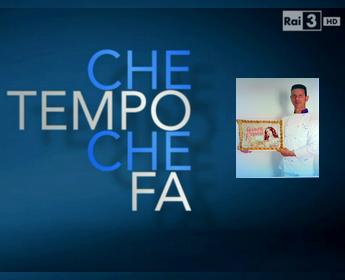 """La pizza artistica di Ermanno Ruggieri a """"Che Tempo Che Fa"""""""