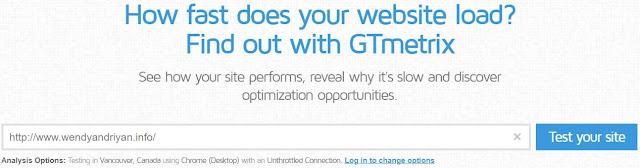 Cara Cek Kecepatan Loading Website atau Blog Dengan GTMetrix