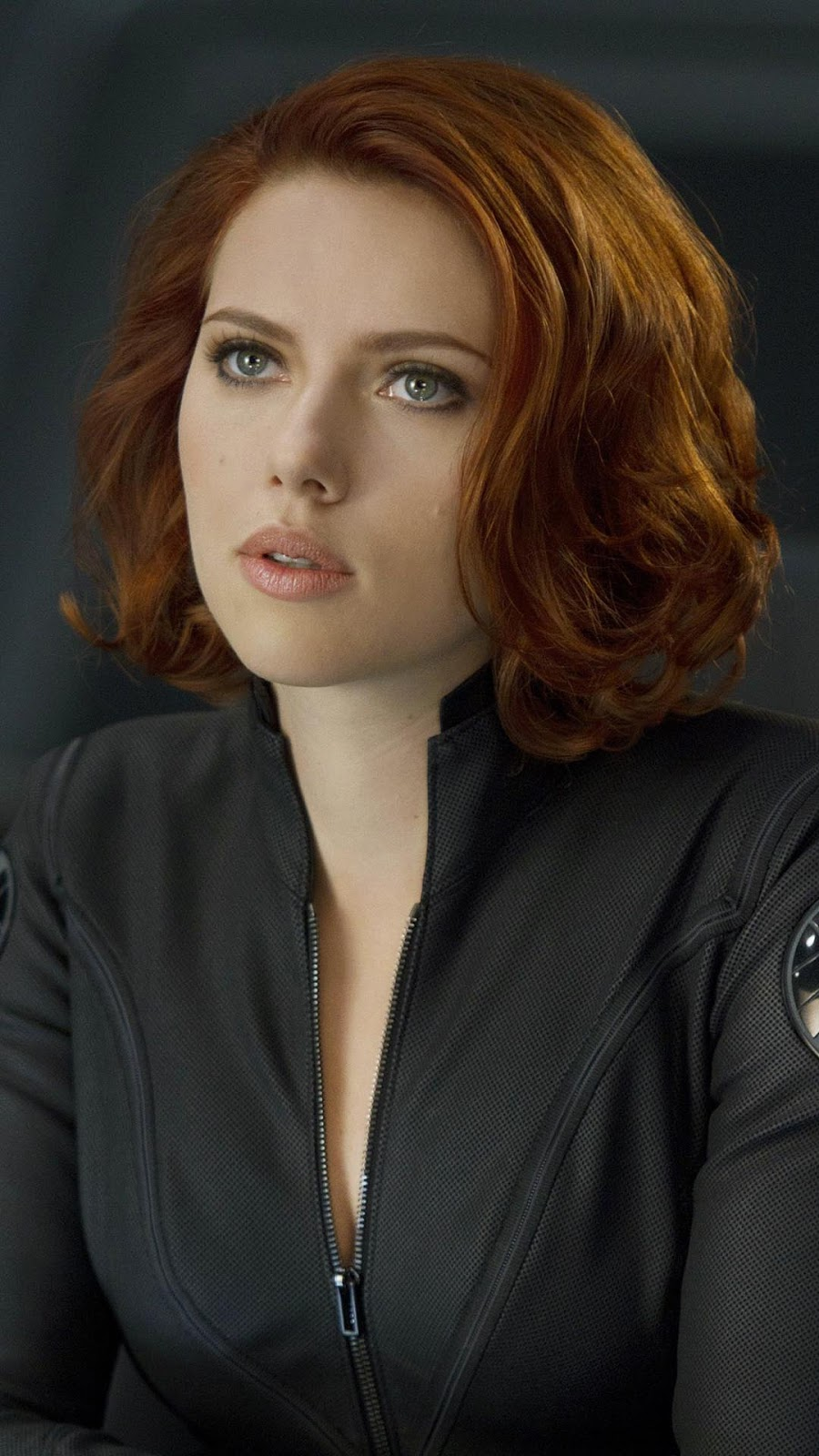 Blonder Hair Black Widow Mobile Wallpaper