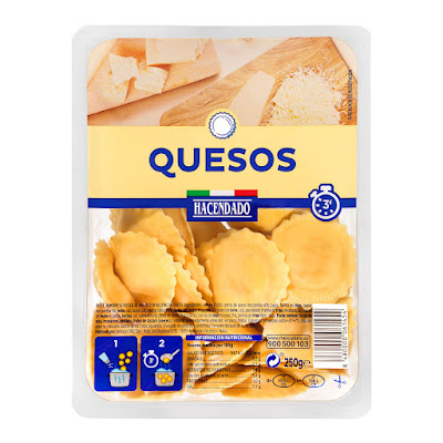 Girasoles frescos con quesos Hacendado