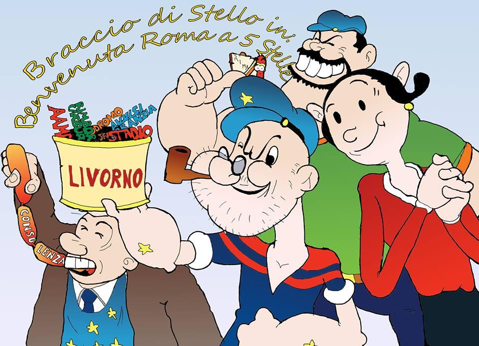 Lavoro In Ufficio Vignette : Livorno times le vignette di rima braccio di stello in