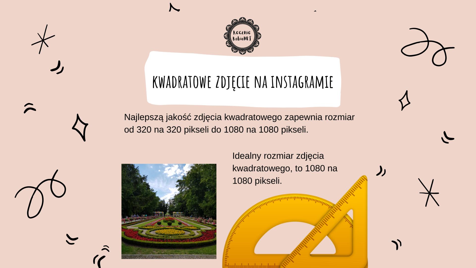 Kwadratowe zdjęcia na Instagramie
