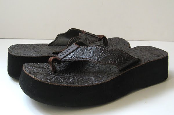 Reef Platform Leather Sandals Reef Sandals Size 7