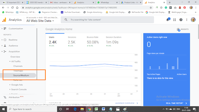 See Information in Google Analytics