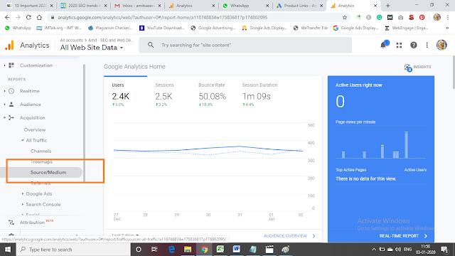 See Information in Google Analytics