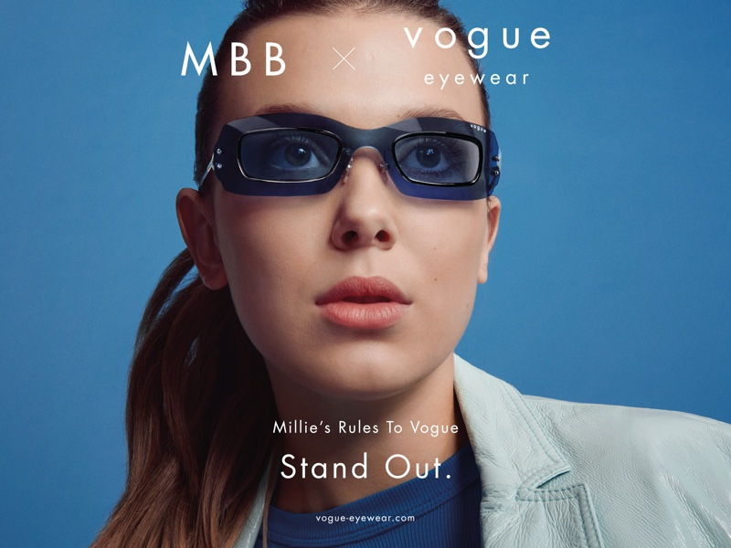 Millie Bobby Brown and Vogue Eyewear team up for their second collaboration of sunglass and optical frames