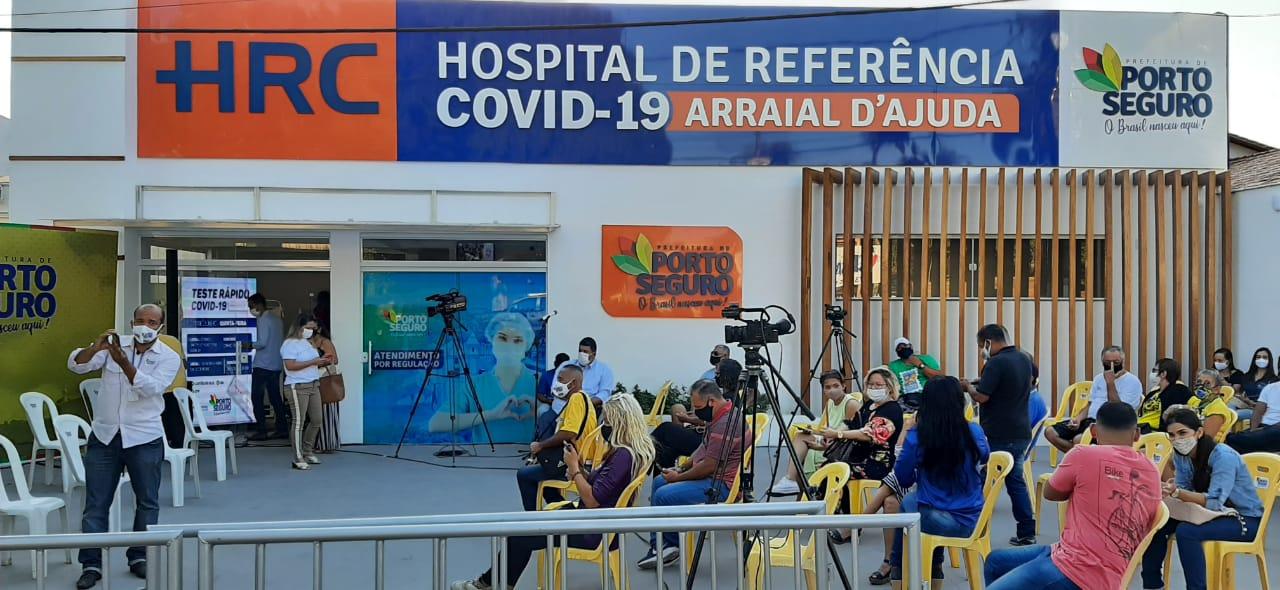 Acompanhe AO VIVO inauguração do hospital de referência covid-19 em arraial d'ajuda