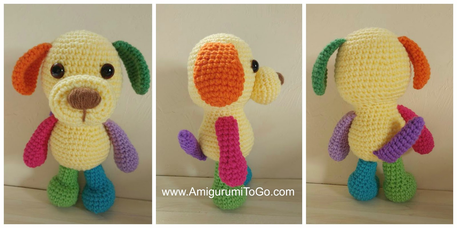 Amigurumi To Go Little Bigfoot : Assembly Page For the Little Bigfoot Puppy ~ Amigurumi To Go