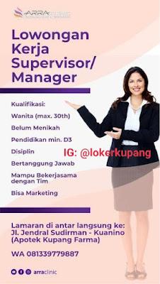Lowongan Kerja Arra Clinic Sebagai Supervisor/Manager