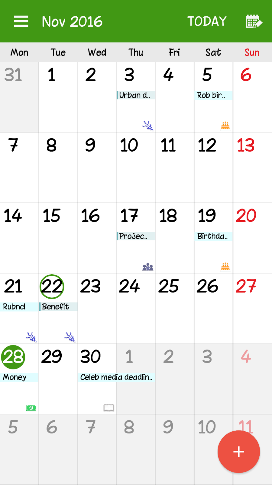 samsung phone calendar