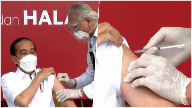 Disuntik Vaksin Corona, Jokowi: Enggak Terasa Sama Sekali