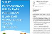 Surat Perpanjangan Bulan Data Pendidikan Islam dan Verval Ponsel Tahap II Tahun 2021