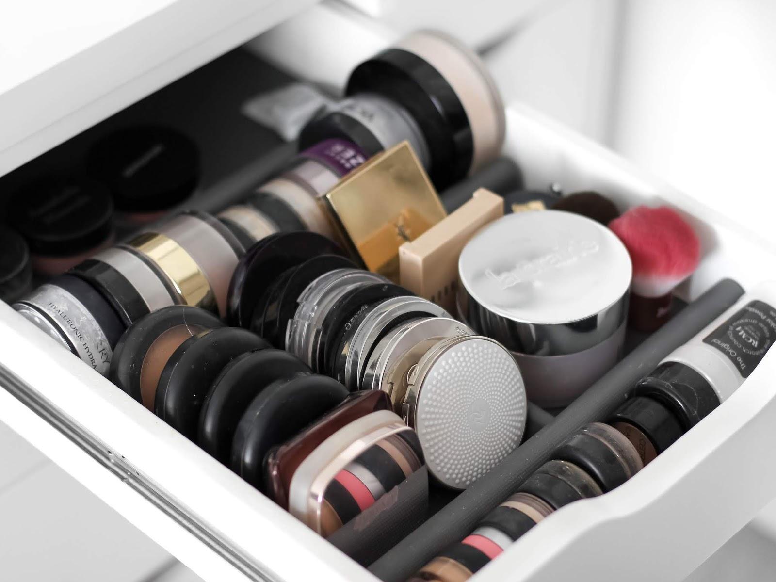 kosmetická sbírka pudry