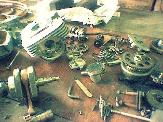 Modenas Jaguh 175 - Kerja-kerja Overhaul Dilakukan!