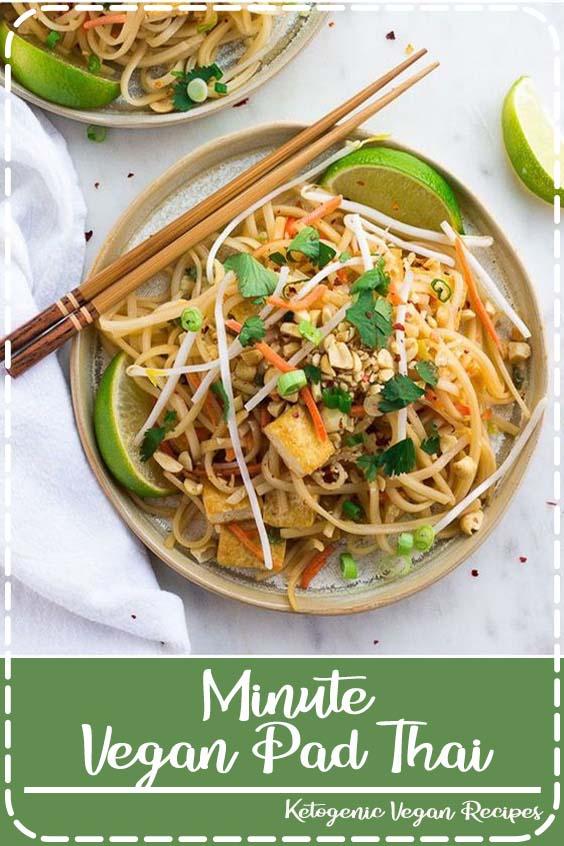 Minute Vegan Pad Thai with tofu and the most incredible 30 Minute Vegan Pad Thai