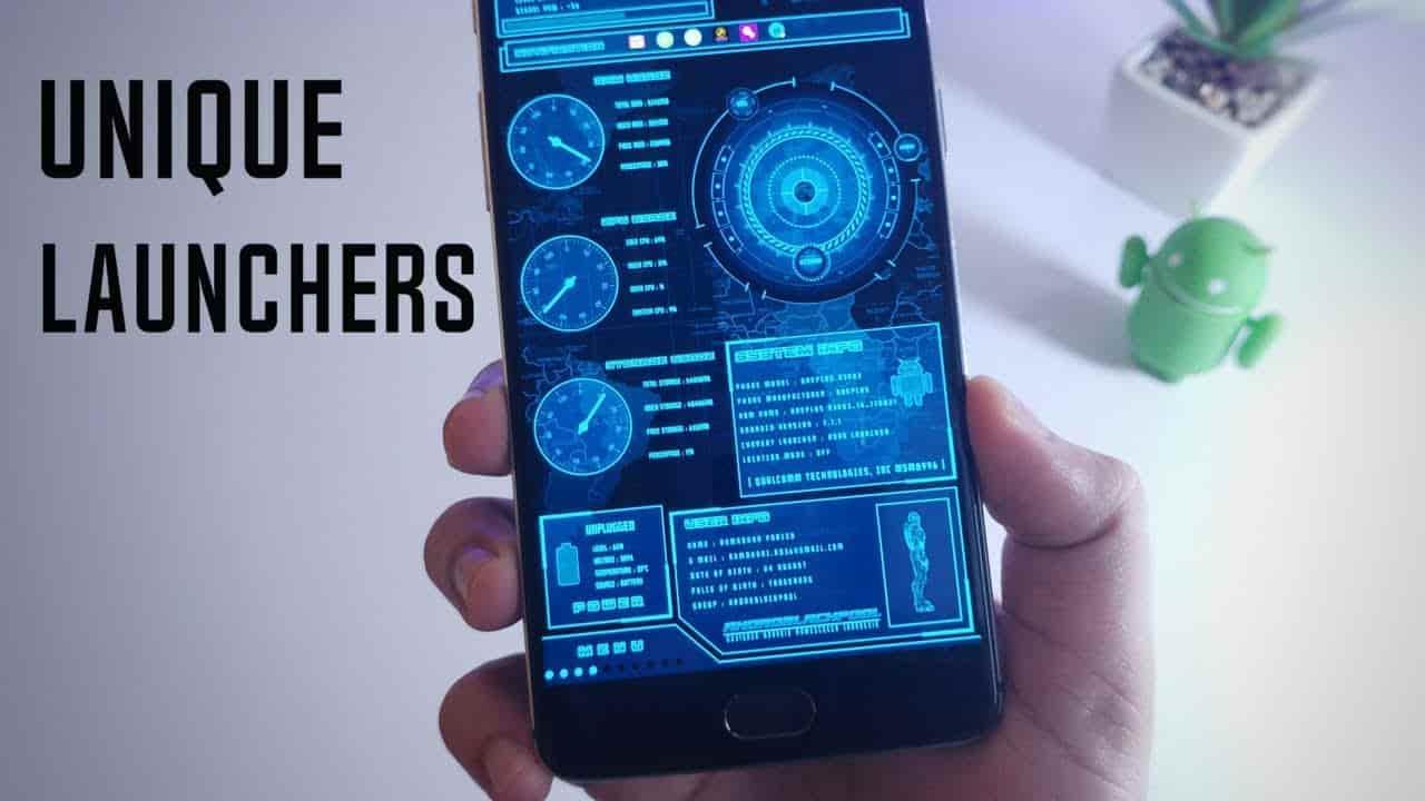 Unique Android launchers