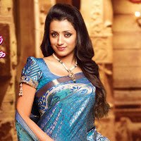Actress trisha latest saree collection stills gallery