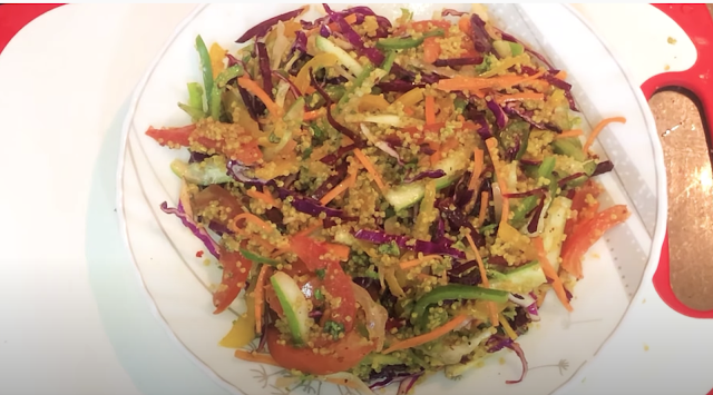 Rainbow Quinoa Salad in a plate