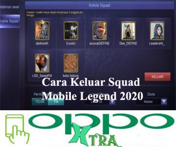 Cara Keluar Squad Mobile Legend 2020