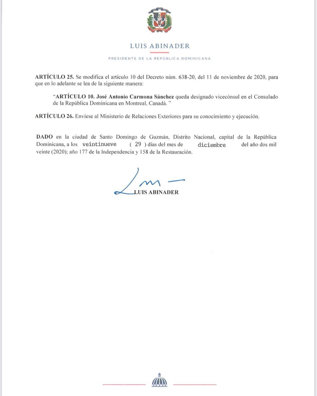 Decreto 736-20