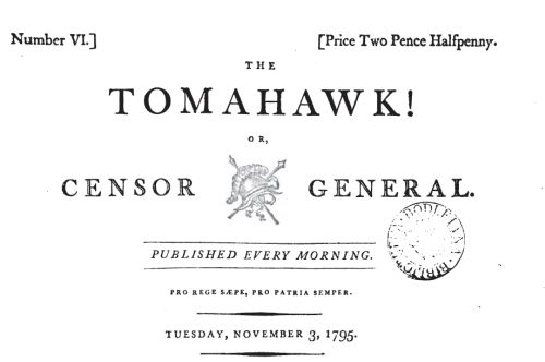 The Tomahawk!, or Censor General, 1795
