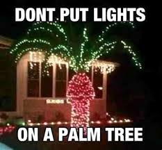 Funny Christmas Palm tree lights
