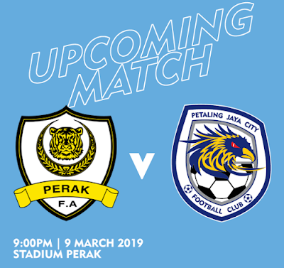 Live Streaming Perak vs Pj City Liga Super 9.3.2019