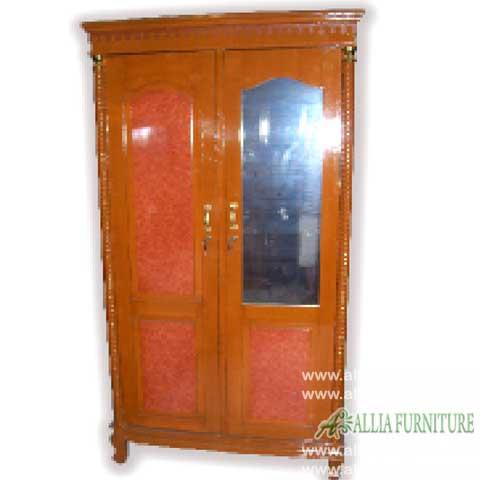 lemari pakaian triplek 2 pintu motif