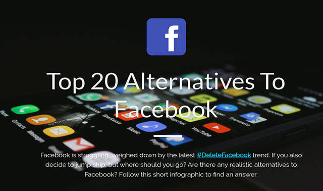 Top 20 Best Alternatives To Facebook 2019 #infographic