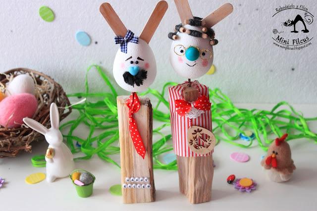 Wielkanocne Króliczki na Drewnie – Dziadkowie