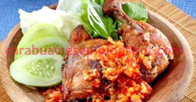 cara membuat ayam penyet sambal korek surabaya resep