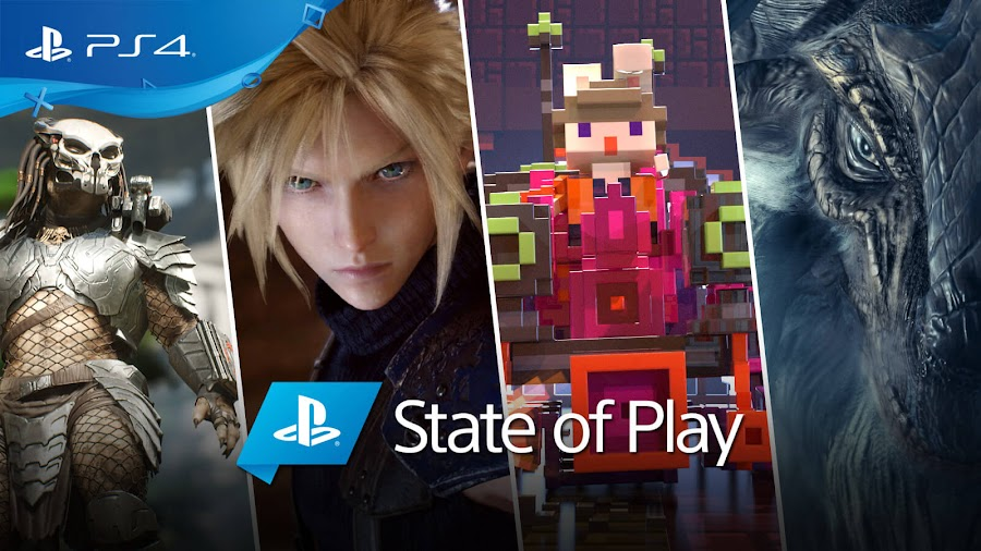 playstation state of play 2019 announcements sony ps4 predator hunting grounds final fantasy 7 remake riverbond monster hunter world iceborne