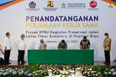 Kementerian PUPR Tingkatkan Kualitas Jalan dan Jembatan di Riau