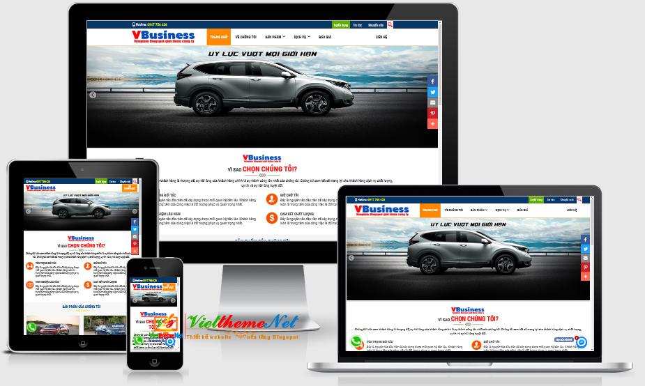 VBusiness - Template Blogspot giới thiệu về công ty, sản phẩm, dịch vụ nền tảng Blogger