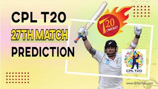 Trinbago Knight Riders vs St Kitts And Nevis Patriots CPL Twenty 20 27th Match 100% Sure Match Prediction CPL 2021