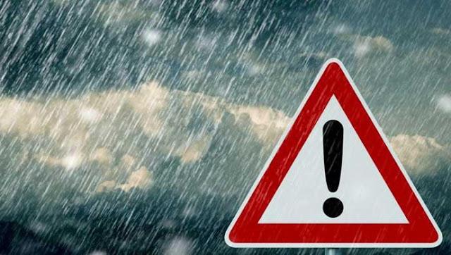 Έκτακτο Δελτίο Επικίνδυνων Καιρικών Φαινομένων με ισχυρές βροχές, καταιγίδες και  θυελλώδεις ανέμους