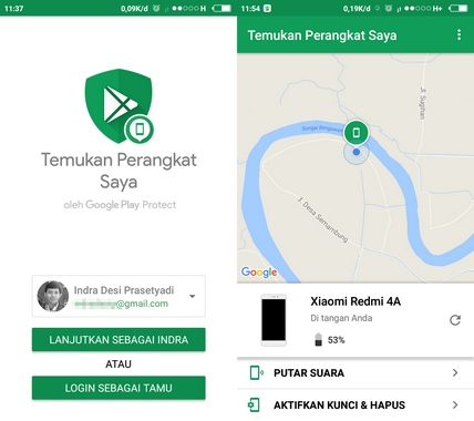 Aplikasi Find My Device Android