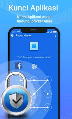 Tampipan aplikasi Phone master