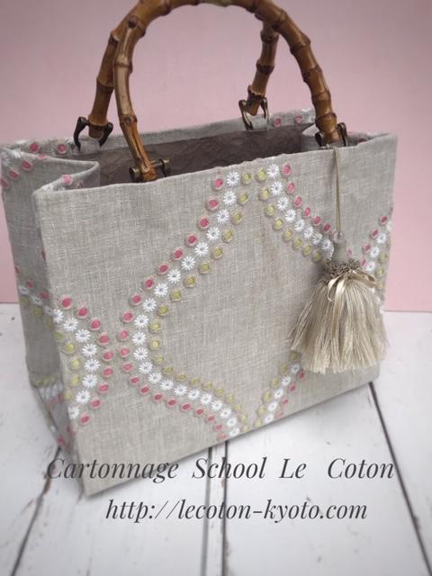 カルトナージュ教室:カルトナージュのバッグ