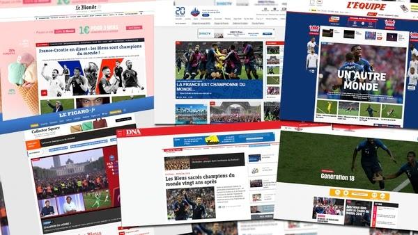 Los medios galos se sumaron a la fiesta que hoy viven millones en Francia / INFOBAE