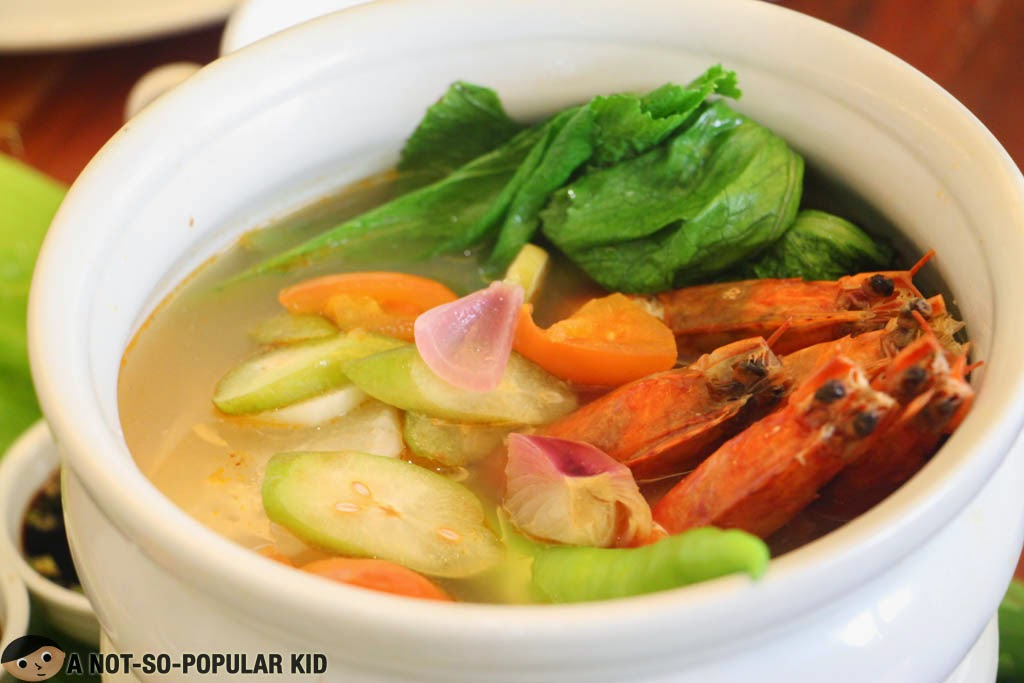 The tasty Sinigang na Sugpo of Dekada Filipino Restuarant