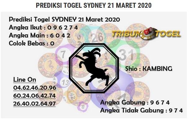 Prediksi Togel Sidney Sabtu 21 Maret 2020 - Prediksi Tribun Togel