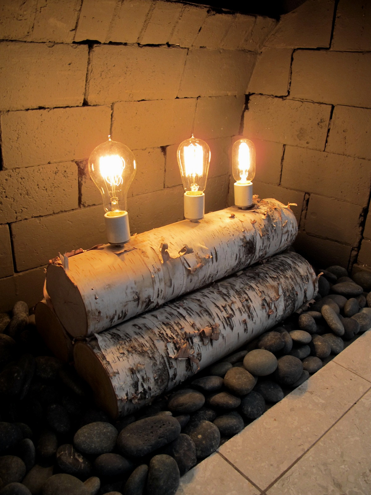 Birch Wood Fireplace Logs Christie Chase 581 Birch Log Lamp